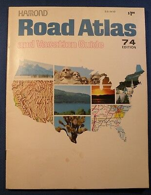 1974 HAMMOND Road ATLAS Vacation Guide United States