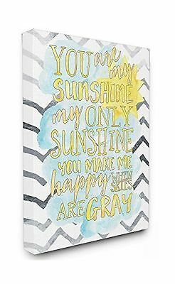 Stupell Home Dcor You are My Sunshine Watercolors Chevron Oversized Stretched...