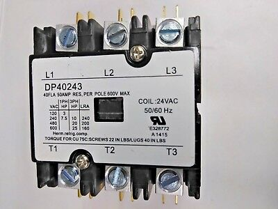 60A Fasco H360A Definite Purpose Contactor 24VAC Was never used 3-Pole