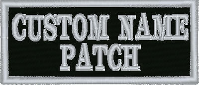 "2 line Custom Embroidered 3.5"" x 1.5""  Name Tag Patch Motorcycle Biker"