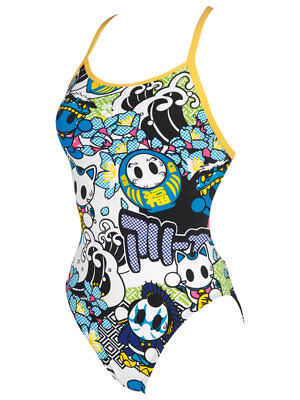 Arena - W Manga One Piece - White/multi Size 24 (2A666-10) - Clearance