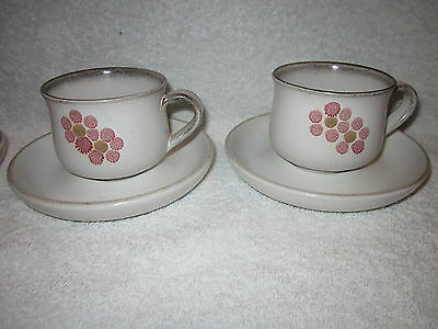 Vintage Denby Gypsy Tea Cups And Saucers X 2