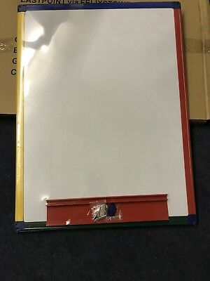 A2 Rainbow Framed Magnetic Double-Sided Drywipe Board • Plain/Graph