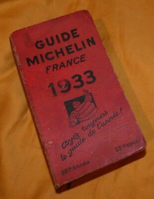 Guide Michelin Ancien 1933