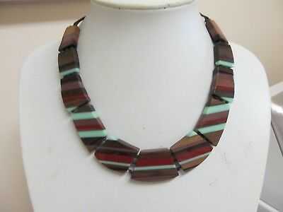 """Attractive 18"""" Graduated Wide Bead Colorful Necklace"""