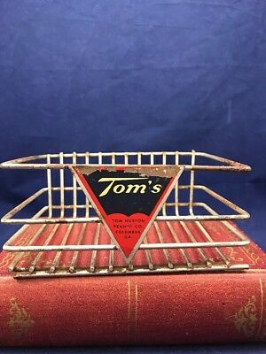 Vintage Toms Peanuts Metal Display Store Counter Rack Sign General Country Store