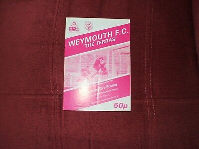 Weymouth V Frome Fa Cup Replay 16-9-1987