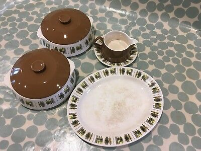 Vintage Lord Nelson serving bowls, serving plate and sauce jug with saucer.