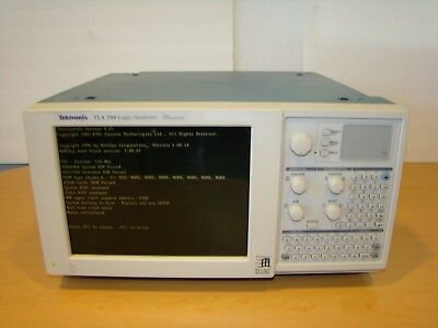 Tektronix TLA 704 Logic Analyzer Color Portable Mainframe. Unit Not Tested!