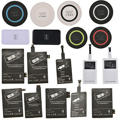 Qi Wireless Charger Receiver / Pad For Iphone Samsung S3 S4 S5 Note 2 3 4 FF
