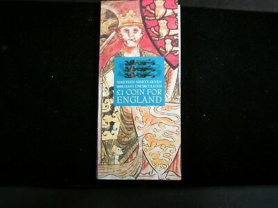 Great Britain  1997 Pound  Sealed on tri-fold holder with Story