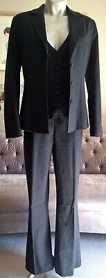 Jacqui e Grey Work Suit Pants Jacket and Vest. Size 10. In Very Good Condition.