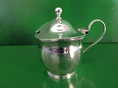 Charles Chesterman Georgian 1802 Antique English Sterling Silver Mustard Pot