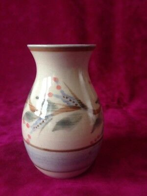 Highland Pottery Newtonmore Vase.  Handpainted. Approx 12 Cm High.