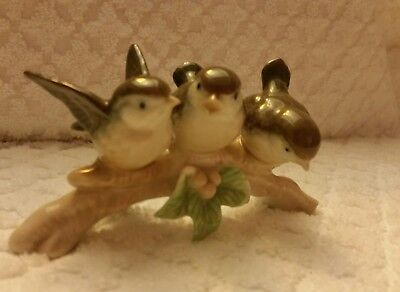 "Otagiri 3 Birds on a Branch Figurine 5"" wide; 2 1/2"" tall"