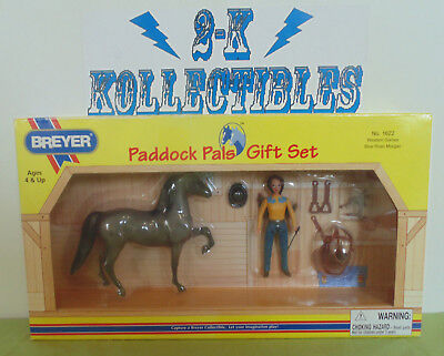 Breyer Paddock Pals Gift Set #1622 Western Games Blue Roan Morgan NIB!!!