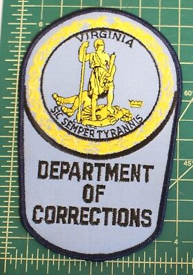 Virgina Department of Corrections patch - sic sepmer tyrannis jail prison guard