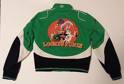 VINTAGE LOONEY TUNES Lot 29 Racing Jacket Green Size Small Youth Bugs Bunny RARE