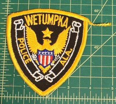 Wetumpka Alabama Police patch