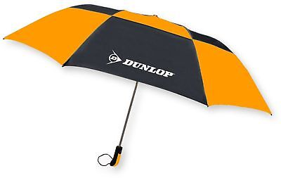 DUNLOP ,56' Folding Golf Umbrella, With Double Canopy Windproof Frame, Rubber