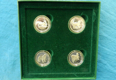 """1997 Canada (4) Coin """"Canada's Best Friends"""" Silver Coin Set *Proof UNC*"""