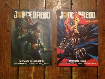 2000AD Judge Dredd Day of Chaos. 2 x Graphic Novel. Endgame & The Forth Faction.