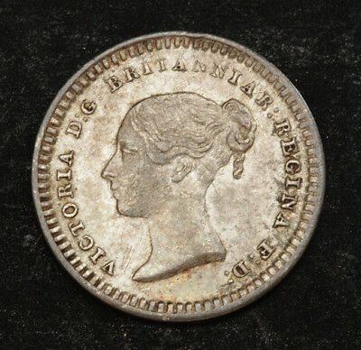 1843, Great Britain, Victoria. Tiny Silver 1½ Pence Coin. Struck for Ceylon!