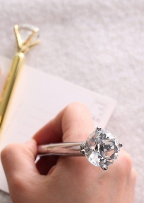 Modern PEN with Diamond Crystal Head Silver and Gold High Quality Metal