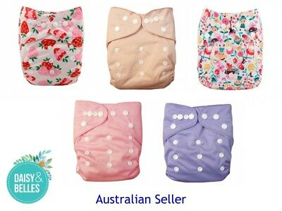 cloth nappy pack  - 5 pocket nappies with inserts included