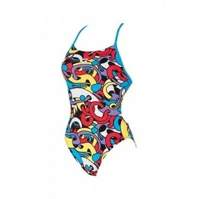 Arena - W Cores Booster Back - Red/turq/multi Size 34 (2A041-48) - Clearance