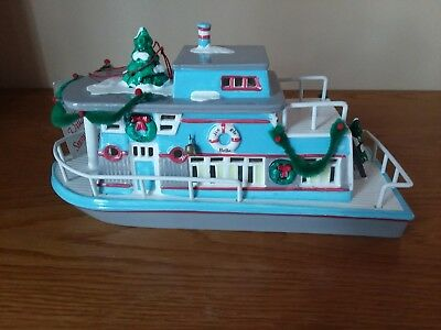 Snow Village House Boat, Lighted 1988 Department 56