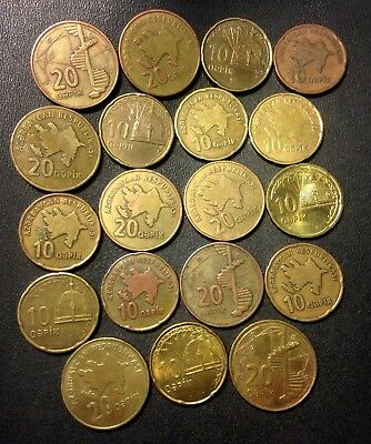 Old AZERBAIJAN Coin Lot - 19 Super Uncommon Hard to Find Coins - Lot #F14