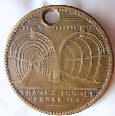 1843 GREAT BRITAIN MEDAL - TUNNEL AT THE RIVER THAMES - Very Cool - Lot #F14