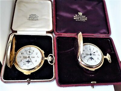 2 moonphase chrono, watches min & quarter repeater 18k