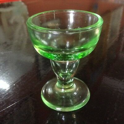 Green depression glass egg cup