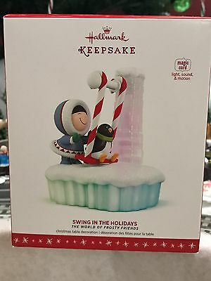 Hallmark Ornament 2016 FROSTY FRIENDS SWING IN THE HOLIDAYS NIB