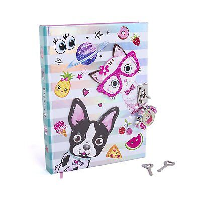 """Hot Focus 7"""" Best Pals Secret Diary with Lock & Two Keys for Kids"""