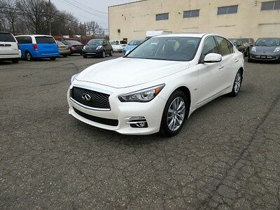 2016 Infiniti Q50 3.0 TURBO PREMIUM PLUS PACKAGE NO RESERVE 2016 INFINITY Q50 3.0T PREMIUM PLUS PACKAGE 5000 MILES PEARL WHITE