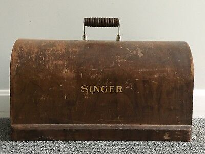 Antique Singer Treadle Sewing Machine Wood Head Cover