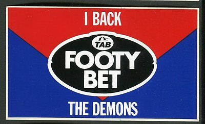 1985 TAB Football Club Footy Bet Sticker - Melbourne