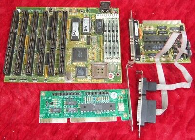 Vintage 386SX33 motherboard with 4Mb Ram and I/O cards