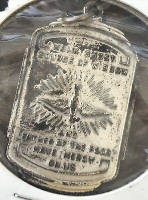 Rare Antique Spouse Of The Holy Ghost Medal Holy Spirit Ornate Religious Medal