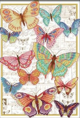 Butterflies Fly Freely. 14CT Counted Cross Stitch. Craft Brand New