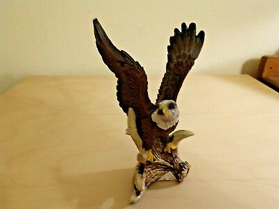 Bald Eagle  On Deer Antler Figurine