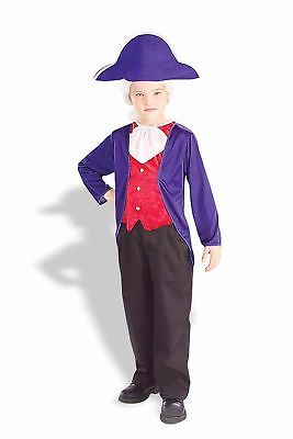 George Washington Costume Uniform Child Boys Historical Pioneer Colonial New