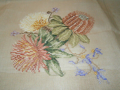 Queen Adelaide Tramme Tapestry Canvas Of Australian Wildflowers & Instructions