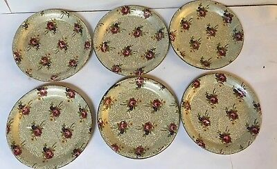 """Coaster Set 6 Piece Paper Mache Stamped: """"Alcohol Proof Made In  Japan"""""""