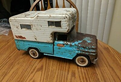 Vintage 1960s Tonka Toy Truck with Camper