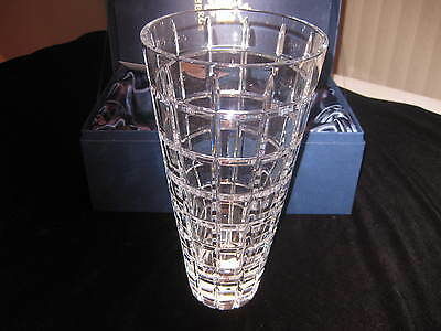 "New in Original Box, Signed 11""  Faberge Metropolitan Crystal Vase"