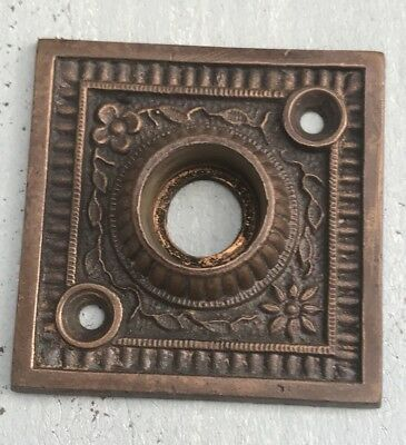 Stunning Antique Eastlake Decorative Ornate Bronze Brass Door Knob Escutcheon